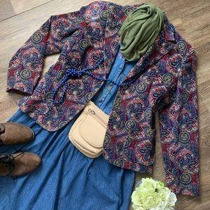 Beautiful Vintage Velvety-Fine Corduroy Blazer!